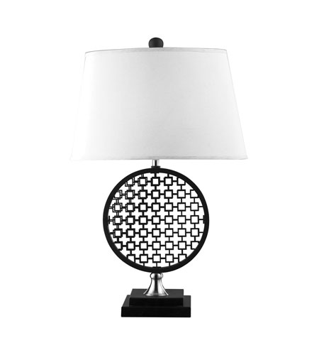 Dimond Prospect 1 Light Table Lamp in Black / Polished Nickel D2212 photo