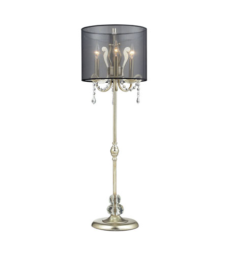 Dimond Lighting D2216 Andover 37 inch 60 watt Silver Leaf Buffet Lamp Portable Light photo