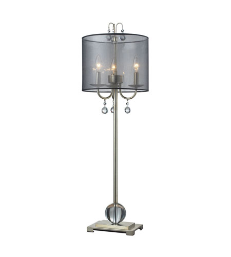 Dimond Amherst 3 Light Buffet Lamp in Silver Leaf D2218 photo