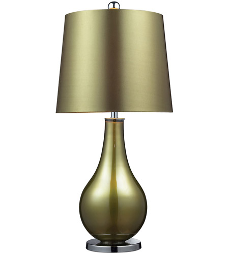 Dimond Dayton 1 Light Table Lamp in Sigma Green and Polished Nickel D2225 photo