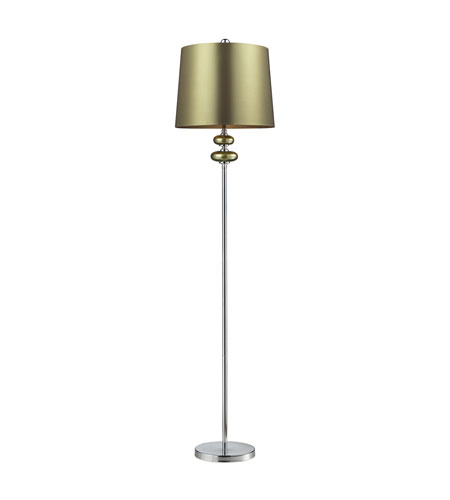 Dimond Dayton 1 Light Floor Lamp in Sigma Green and Polished Nickel D2226 photo