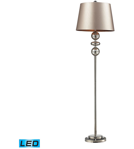 Dimond Lighting D2228-LED Hollis 68 inch 13.5 watt Antique Mercury Glass And Polished Nickle Floor Lamp Portable Light in LED photo