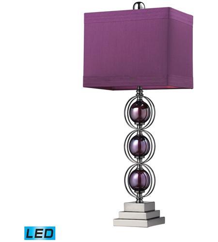 Dimond Lighting Alva 1 Light Table Lamp in Purple / Black Nickle D2232-LED photo