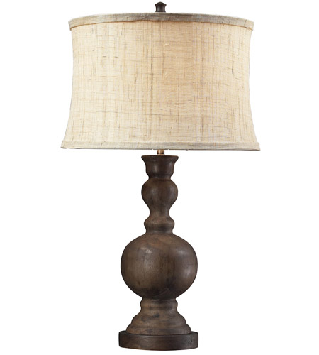 Dimond Biltmore For Your Home Arden 1 Light Table Lamp in Dark Oak D2240 photo