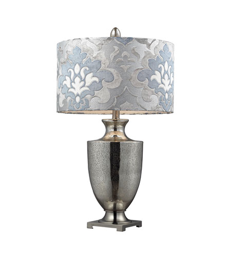 Dimond Langham 11 Light Table Lamp in Antique Mercury Glass With Polished Chrome D2248P photo