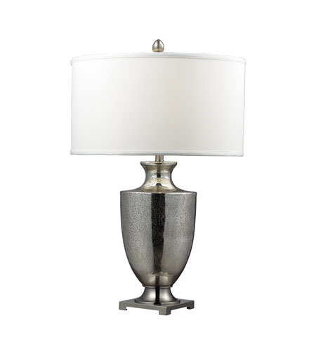 Dimond Langham 11 Light Table Lamp in Antique Mercury Glass With Polished Chrome D2248W photo