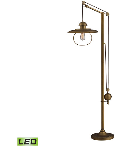 Dimond Lighting D2254-LED Farmhouse 70 inch Antique Brass Floor Lamp Portable Light in LED photo