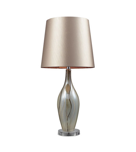 Dimond Etna 1 Light Table Lamp in Painted Ribbon D2257 photo