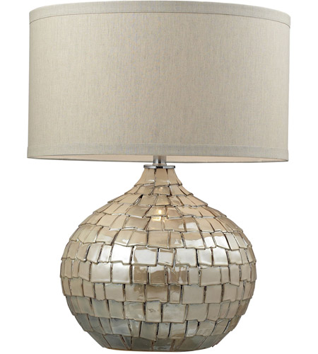 Dimond Lighting D2264 Canaan 25 inch 150 watt Cream Pearl Table Lamp Portable Light in Incandescent photo
