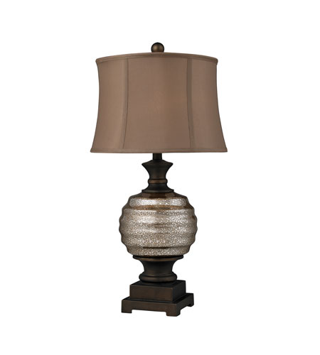 Dimond Lighting Grants Pass 1 Light Table Lamp in Antique Mercury Glass And Bronze Accents D2308 photo