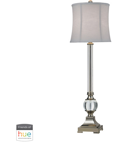 Nickel and Clear Table Lamps