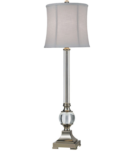 Dimond Lighting Corvallis 1 Light Table Lamp in Clear / Polished Nickel D2309 photo