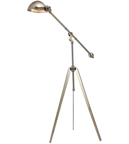 Dimond Lighting D2364 Wesley 61 inch 60 watt Nickel Floor Lamp Portable Light photo