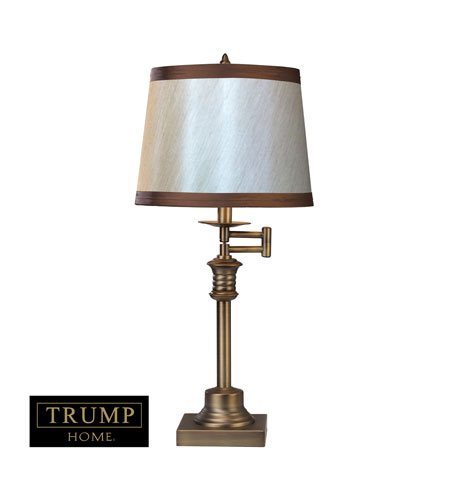 Dimond Lighting Trump Home Saddlebury 2 Light Table Lamp in Brown With Antique Brass D2368 photo