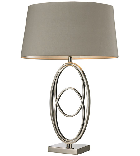 Dimond Lighting D2415 Hanoverville 27 inch 150 watt Polished Nickel Table Lamp Portable Light in Incandescent photo