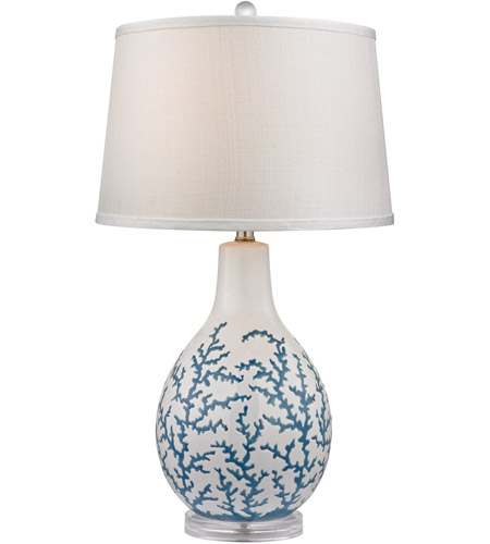 Dimond Lighting D2478 Sixpenny 27 inch 150 watt Pale Blue With White Table Lamp Portable Light in Incandescent photo