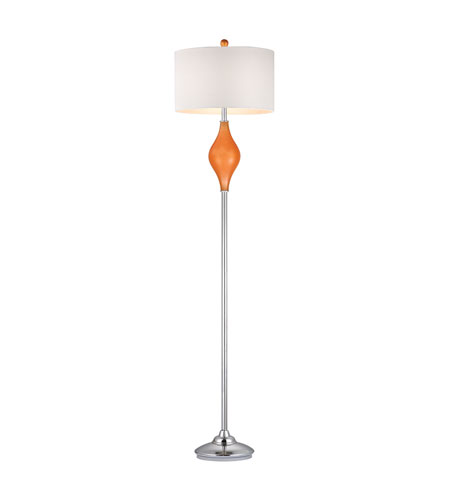 Dimond Chester 1 Light Floor Lamp in Tangerine Orange with Polished Nickel D2510 photo