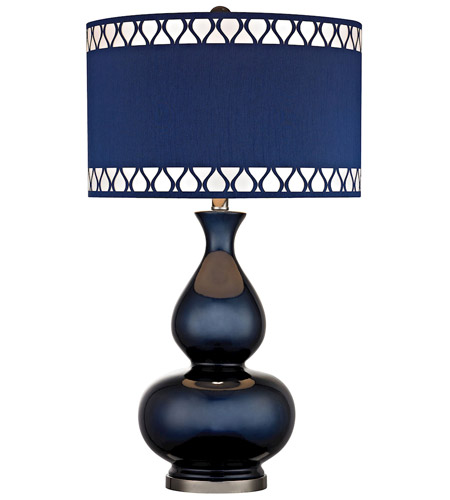 Dimond Lighting D2516 Heathfield 28 inch 150 watt Navy Blue With Black Nickel Table Lamp Portable Light in Incandescent photo