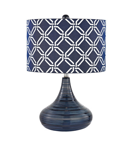 Dimond Lighting D2519 Bles 21 Inch 100 Watt Navy Blue Table Lamp Portable Light In Incandescent