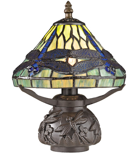 Dimond Lighting D2538 Flintwick 11 Inch 40 Watt Dark Bronze Table