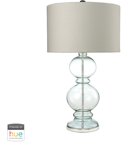 Blue and Clear Glass Table Lamps