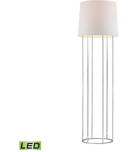 Barrel frame 63 inch 95 watt chrome floor lamp portable for Portable led floor lamp
