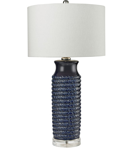 dimond lighting d2594 wrapped rope 30 inch 150 watt navy blue table lamp portable light in - Navy Blue Table Lamp