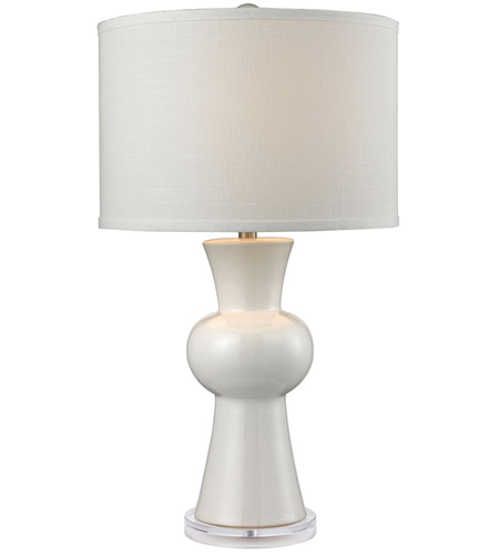 Dimond Lighting D2618 Ceramic 28 Inch 150 Watt Gloss White Table Lamp Portable Light In Incandescent