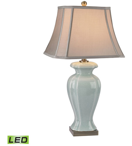 Dimond lighting d2632 led ceramic 29 inch 95 watt celadon and dimond lighting d2632 led ceramic 29 inch 95 watt celadon and antique brass table lamp portable light in led aloadofball Images