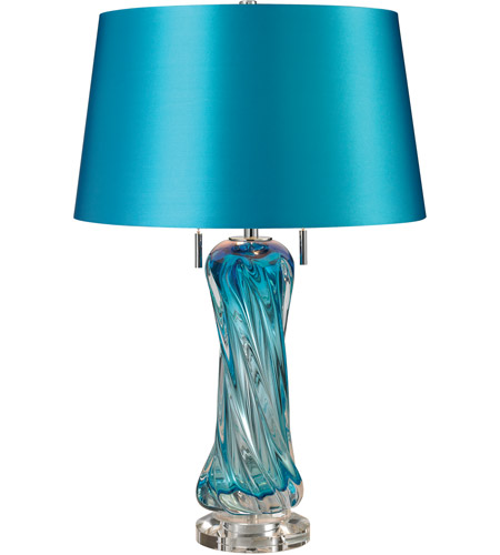 dimond lighting d2664 vergato 24 inch 60 watt blue table lamp portable. Black Bedroom Furniture Sets. Home Design Ideas