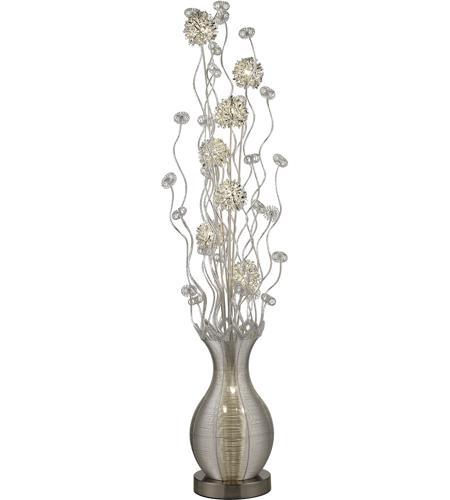 Dimond lighting d2716 uniontown 63 inch 15 watt silver for Five light floor lamp in silver