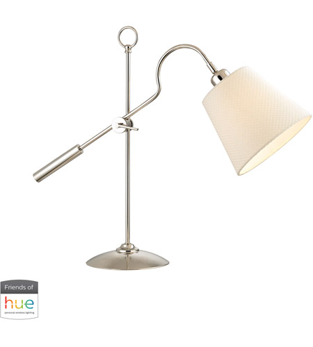 Dimond Lighting D2821-HUE-B Colonial 22 inch 60 watt Polished Nickel Desk Lamp Portable Light photo