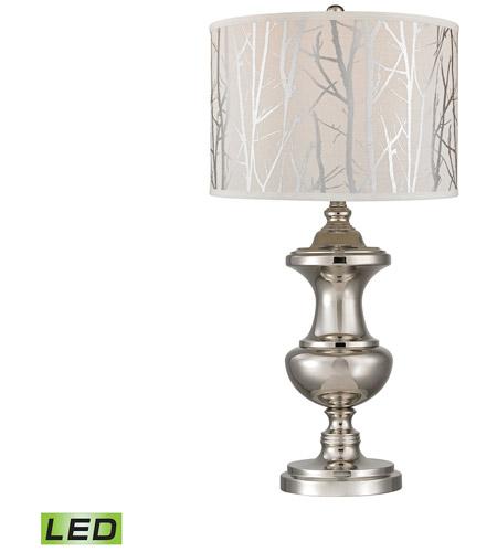 Dimond Lighting D2830 LED Spun Metal 30 Inch 9.5 Watt Polished Nickel Table  Lamp Portable Light In LED