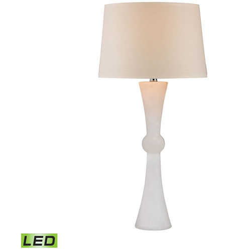 Dimond Lighting D2869-LED Hourglass 32 inch 9.5 watt Alabaster Table Lamp Portable Light in LED photo