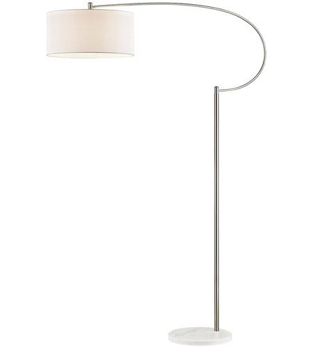 72 inch 100 watt satin nickel white floor lamp portable light photo. Black Bedroom Furniture Sets. Home Design Ideas
