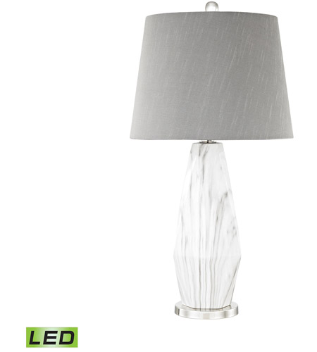 Dimond Lighting D3090 LED Sochi 28 Inch 9.5 Watt Polished Nickel,White Faux  Marble