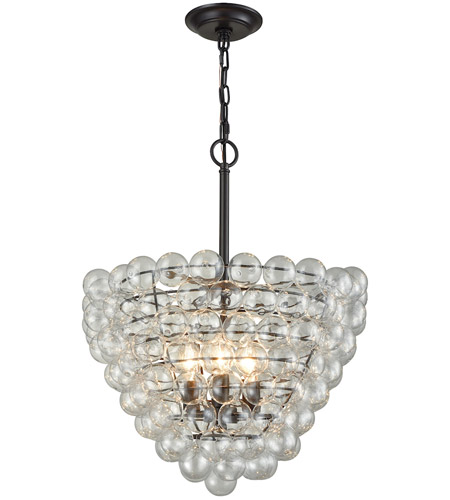 Dimond Lighting D3146 Cuvee 3 Light 19 inch Oil Rubbed Bronze,Clear Chandelier Ceiling Light photo