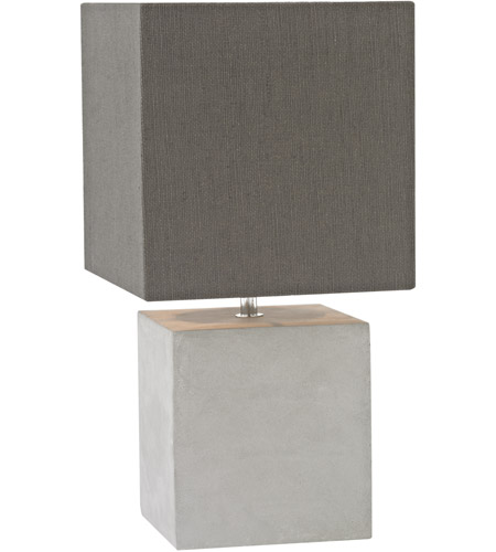 High Quality Dimond Lighting D3176 Brocke 15 Inch 40 Watt Polished Concrete Table Lamp  Portable Light