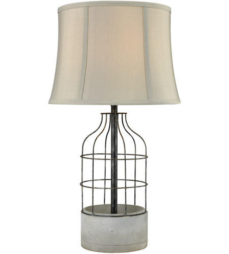 Dimond lighting d3289 rochefort 28 inch 100 watt polished concrete dimond lighting d3289 rochefort 28 inch 100 watt polished concrete and oil rubbed bronze outdoor table lamp mozeypictures Image collections