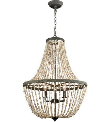 Dimond Lighting D3307 Cote des Basques 3 Light 20 inch Pebble Grey and Pearl Chandelier Ceiling Light photo