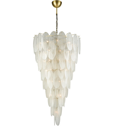 Dimond Lighting D3309 Hush 42 Light 33 inch White Chandelier Ceiling Light photo