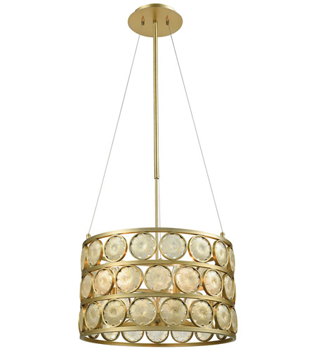 Dimond Lighting D3312 Signet 5 Light 20 inch Light Amber Smoke and Gold Chandelier Ceiling Light, Small photo