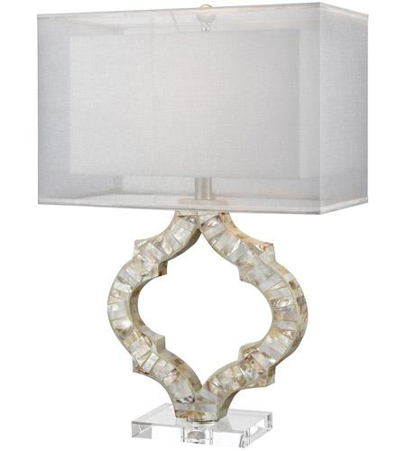 Dimond Lighting D3327 San Sebastian 26 Inch 100 Watt Natural Mother Of Pearl  Table Lamp Portable Light