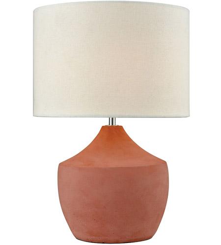 Dimond Lighting D3361 Curacao 17 Inch 100 Watt Coral Table Lamp Portable  Light