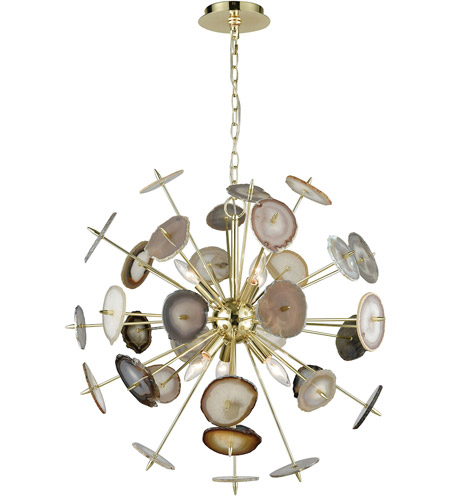 Dimond lighting d3370 galileo 6 light 28 inch bright gold and dimond lighting d3370 galileo 6 light 28 inch bright gold and natural agate chandelier ceiling light mozeypictures Image collections