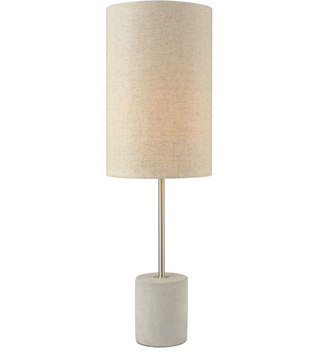 Dimond Lighting D3453 Katwijk 24 Inch 60 Watt Polished Concrete And Nickel  Table Lamp Portable Light