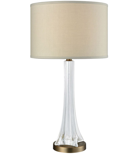 Weathered Antique Brass Metal Table Lamps