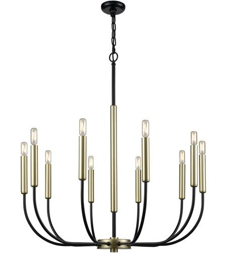 Dimond Lighting D3545 Transatlantique 10 Light 34 Inch Black And Soft Gold Chandelier Ceiling