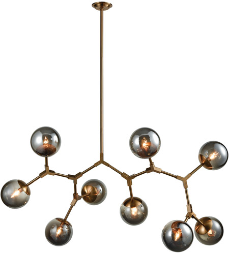 Dimond lighting d3564 synapse 9 light 60 inch new aged brass and dimond lighting d3564 synapse 9 light 60 inch new aged brass and smoke grey linear chandelier ceiling light mozeypictures Gallery