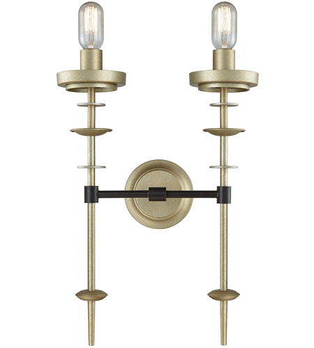 Dimond Lighting D3570 Orion 2 Light 14 inch Oil Rubbed Bronze and Antique Silver Wall Sconce Wall Light photo thumbnail